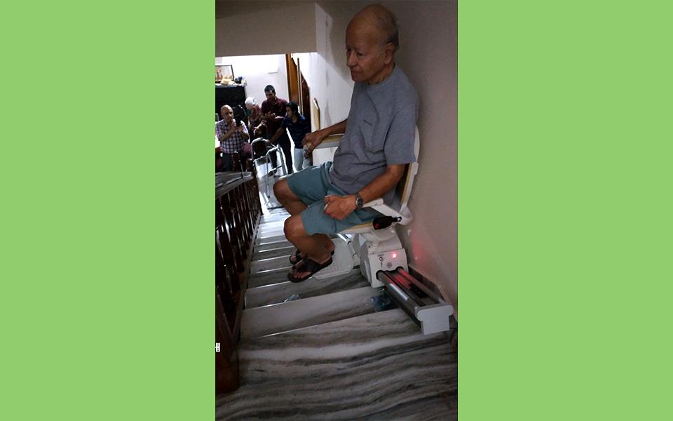 Straight Stair Case Chair Lift | Straight Stair Chair | Straight Climb | Banglore